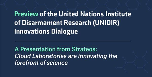 The United Nations Institute for Disarmament Research (UNIDIR) Innovations Dialogue